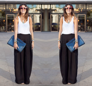 LEANDRA-MEDINE-MAN-REPELLERBLOGGER-THEYSKENS-THEORY-BLACK-WIDE-LEG-PANTS-REFORMATION-WHITE-TANK-TOP-REBECCAMINKOFF-BLUE-CLUTCH-RED-DIOR-CAT-EYE-SUNGLASSES-FASHION-WEEK-STREET-STYLE-VIA-NYMAG-THE-CUT